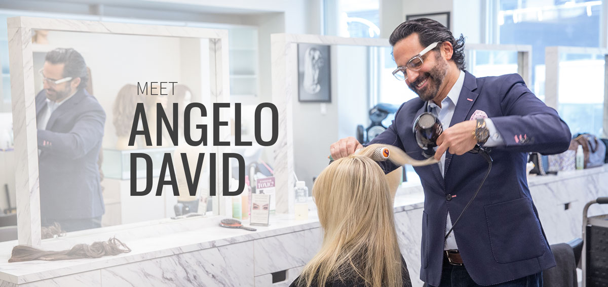 Angelo David Pisacreta is the owner and Creative Director of Angelo David Salon